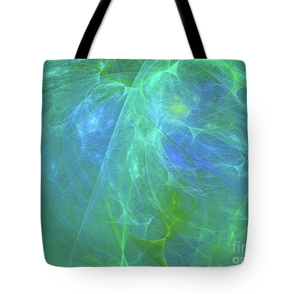Tote Bag featuring the digital art Andee Design Abstract 12 2018 by Andee Design