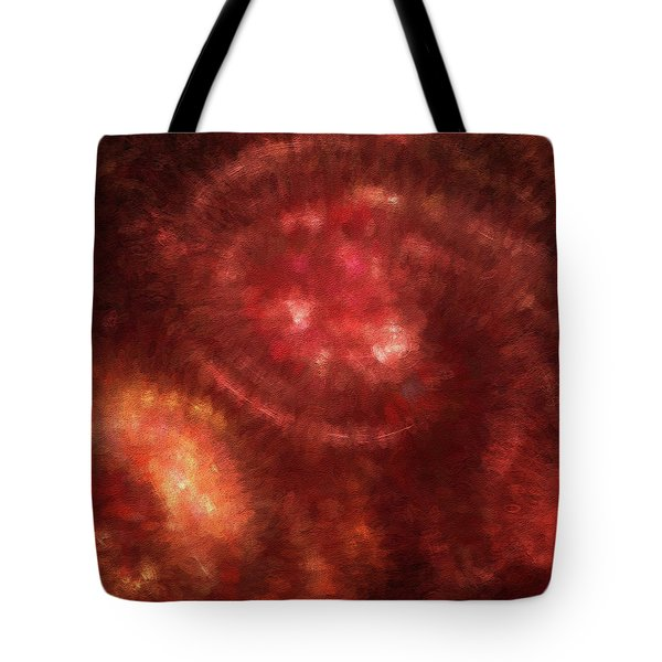 Tote Bag featuring the digital art Andee Design Abstract 13 2018 by Andee Design