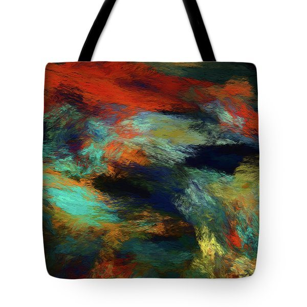 Tote Bag featuring the digital art Andee Design Abstract 14 2018 by Andee Design