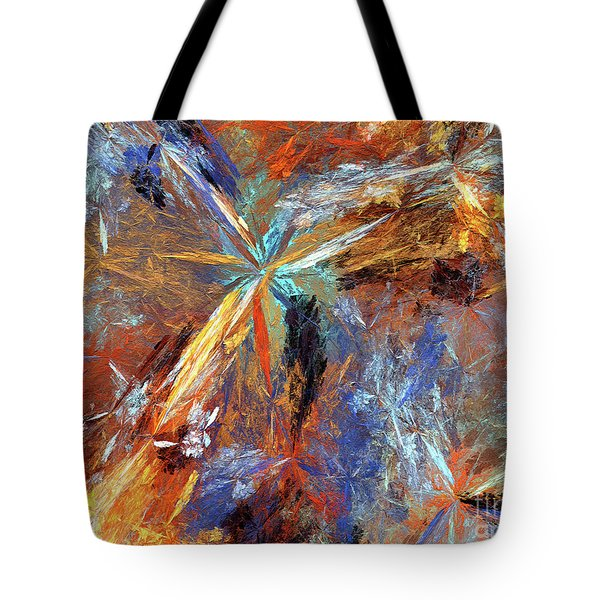 Tote Bag featuring the digital art Andee Design Abstract 15 2018 by Andee Design