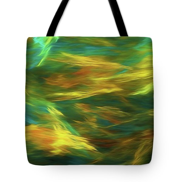 Tote Bag featuring the digital art Andee Design Abstract 16 D 2018 by Andee Design