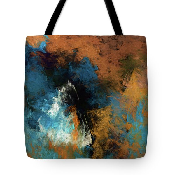 Tote Bag featuring the digital art Andee Design Abstract 17 2017 by Andee Design