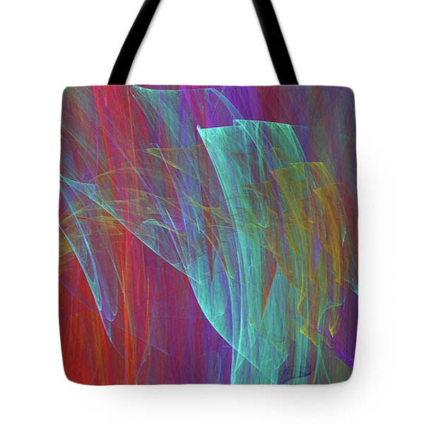 Tote Bag featuring the digital art Andee Design Abstract 18 2017 by Andee Design