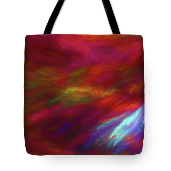 Tote Bag featuring the digital art Andee Design Abstract 18 2018 by Andee Design