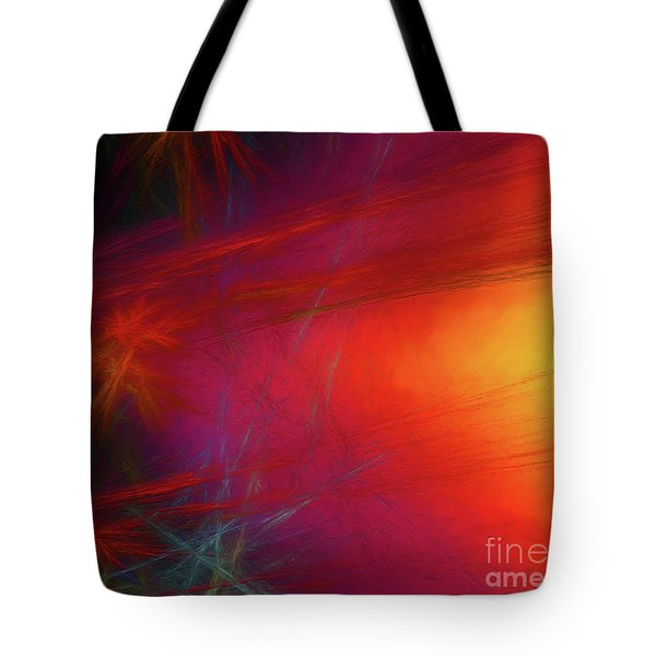 Tote Bag featuring the digital art Andee Design Abstract 21 2018 by Andee Design