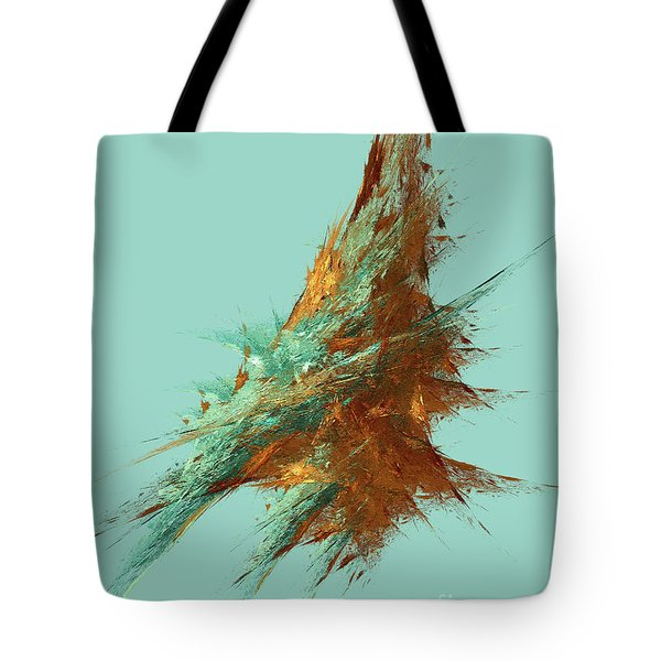 Tote Bag featuring the digital art Andee Design Abstract 22 2018 by Andee Design