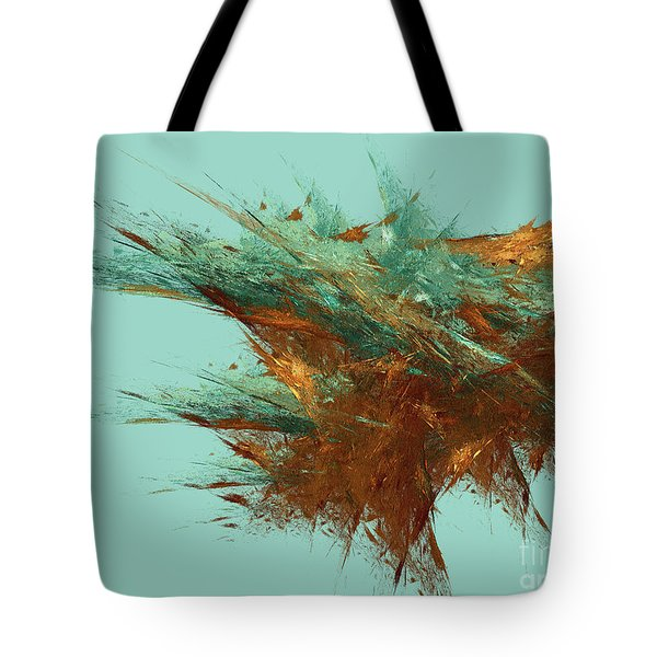 Tote Bag featuring the digital art Andee Design Abstract 23 2018 by Andee Design