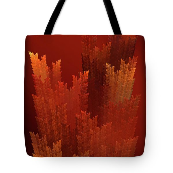 Tote Bag featuring the digital art Andee Design Abstract 24 2017 by Andee Design