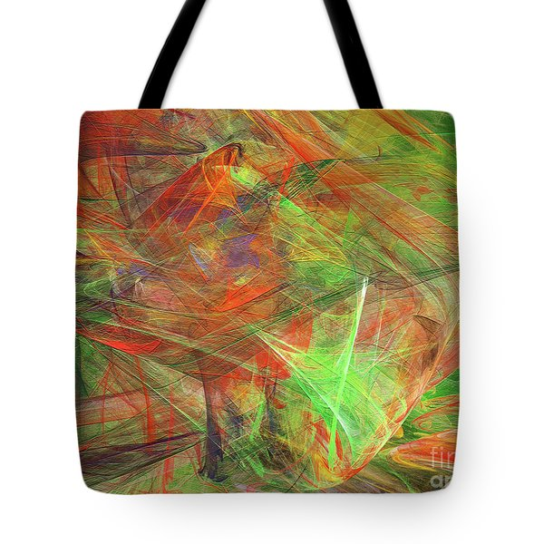 Tote Bag featuring the digital art Andee Design Abstract 24 2018 by Andee Design