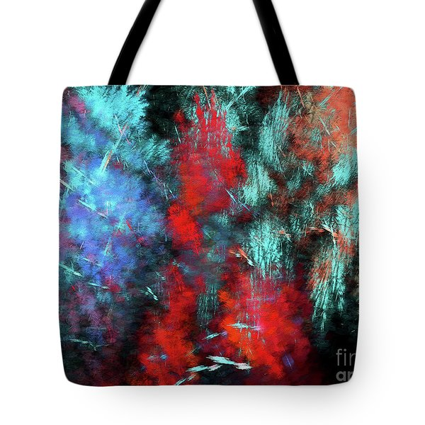 Tote Bag featuring the digital art Andee Design Abstract 25 2018 by Andee Design