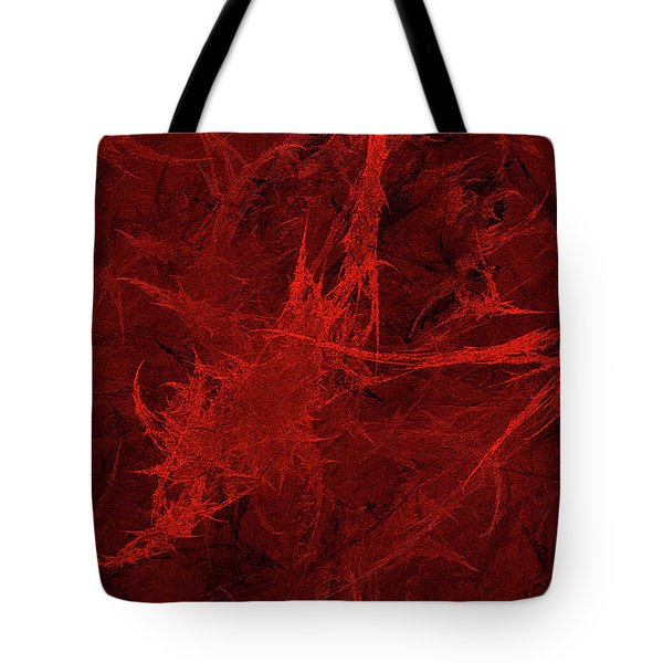 Tote Bag featuring the digital art Andee Design Abstract 26 2017 by Andee Design