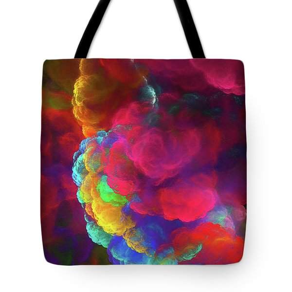 Tote Bag featuring the digital art Andee Design Abstract 27 2017 by Andee Design