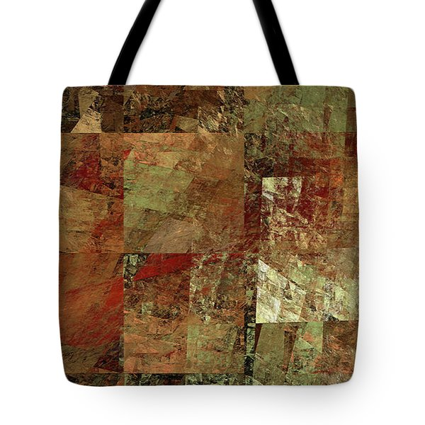Tote Bag featuring the digital art Andee Design Abstract 28 2017 by Andee Design