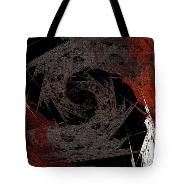 Tote Bag featuring the digital art Andee Design Abstract 29 2017 by Andee Design