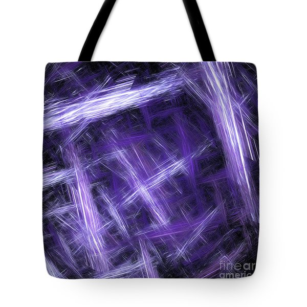 Tote Bag featuring the digital art Andee Design Abstract 30 2017 by Andee Design