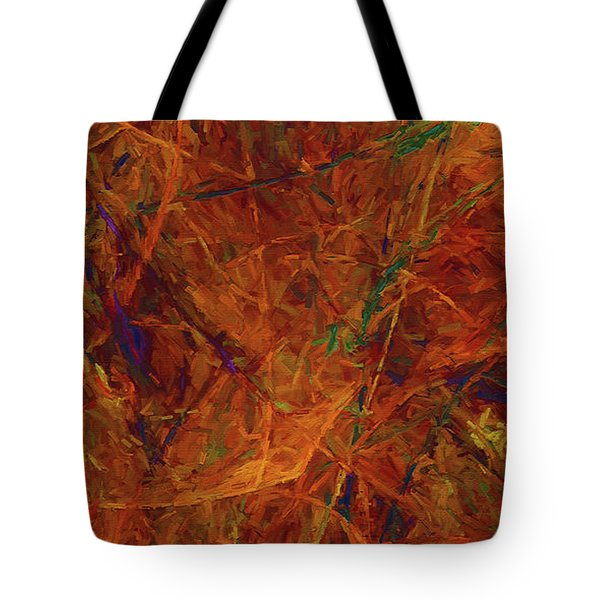 Tote Bag featuring the digital art Andee Design Abstract 31 2017 by Andee Design