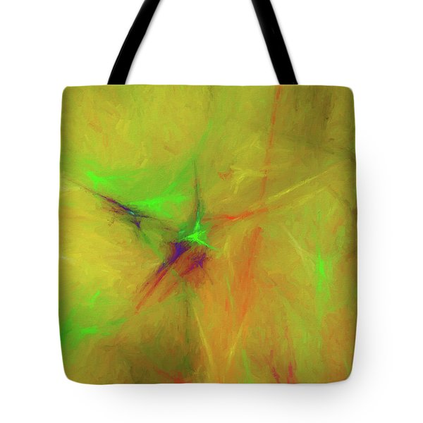 Tote Bag featuring the digital art Andee Design Abstract 32 2017 by Andee Design