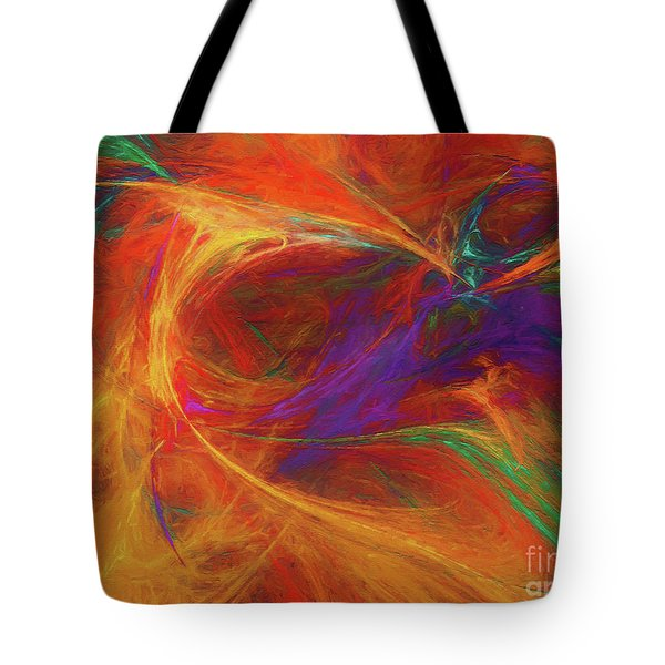 Tote Bag featuring the digital art Andee Design Abstract 33 2017 by Andee Design
