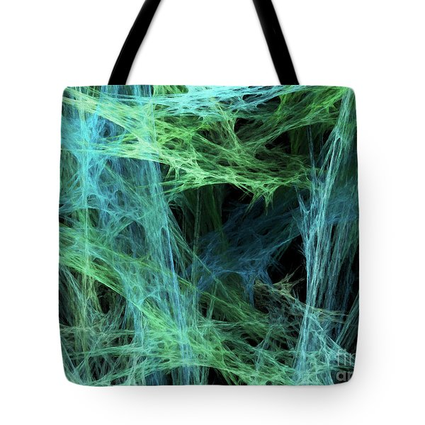 Tote Bag featuring the digital art Andee Design Abstract 34 2017 by Andee Design
