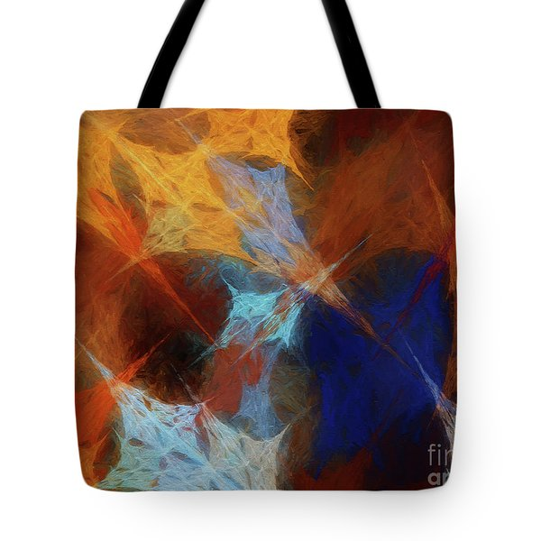 Tote Bag featuring the digital art Andee Design Abstract 35 2017 by Andee Design