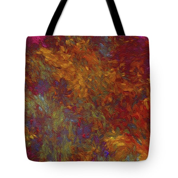 Tote Bag featuring the digital art Andee Design Abstract 36 2017 by Andee Design