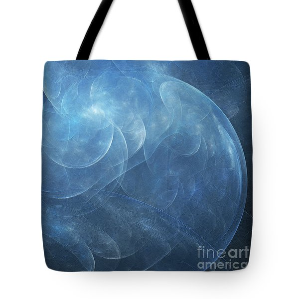 Tote Bag featuring the digital art Andee Design Abstract 38 2017 by Andee Design