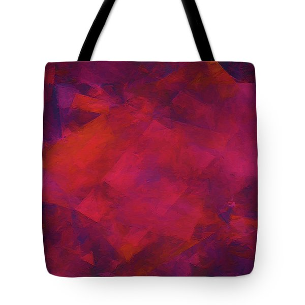 Tote Bag featuring the digital art Andee Design Abstract 39 2017 by Andee Design
