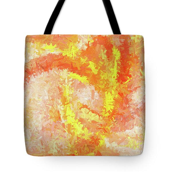 Tote Bag featuring the digital art Andee Design Abstract 4 2018 by Andee Design