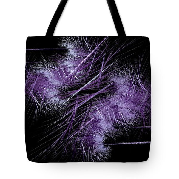 Tote Bag featuring the digital art Andee Design Abstract 40 2017 by Andee Design