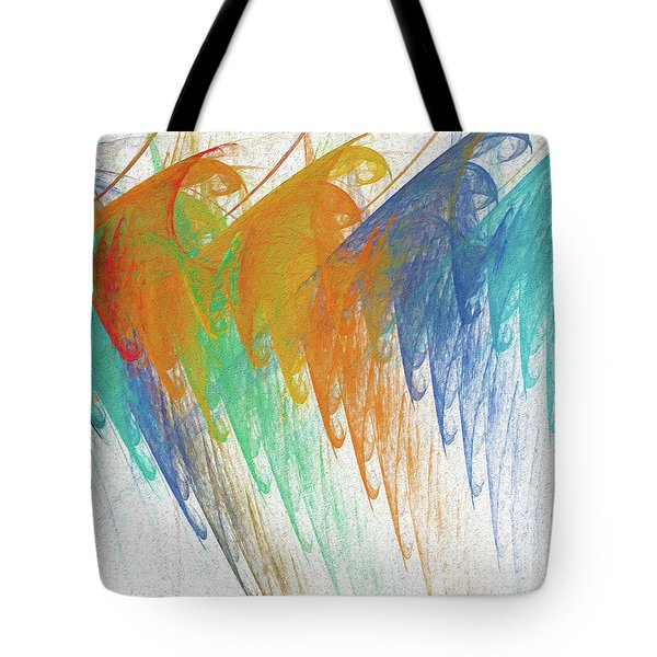Tote Bag featuring the digital art Andee Design Abstract 41 2017 by Andee Design