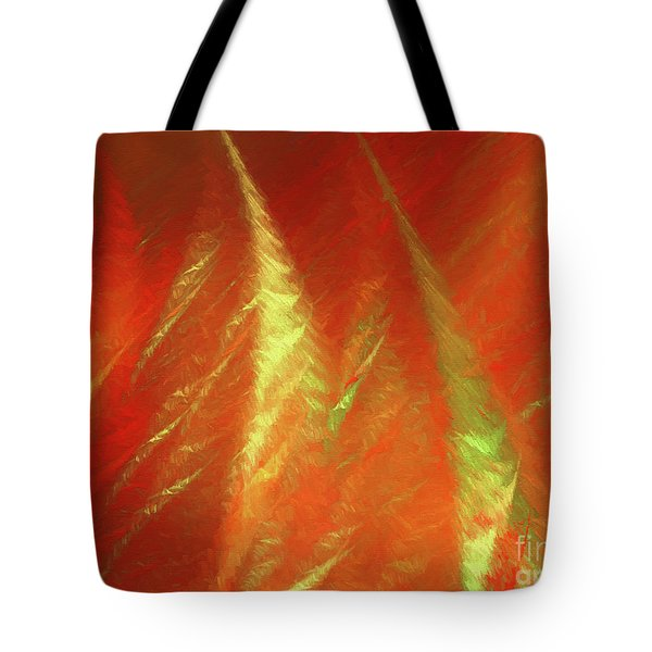 Tote Bag featuring the digital art Andee Design Abstract 42 2017 by Andee Design