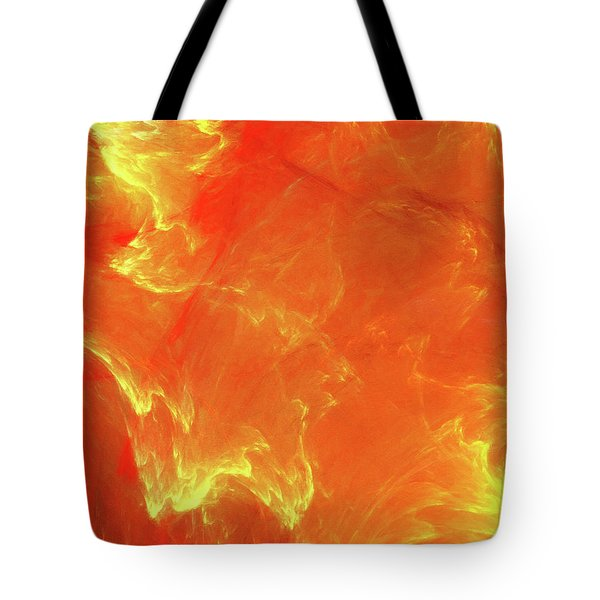 Tote Bag featuring the digital art Andee Design Abstract 43 2017 by Andee Design