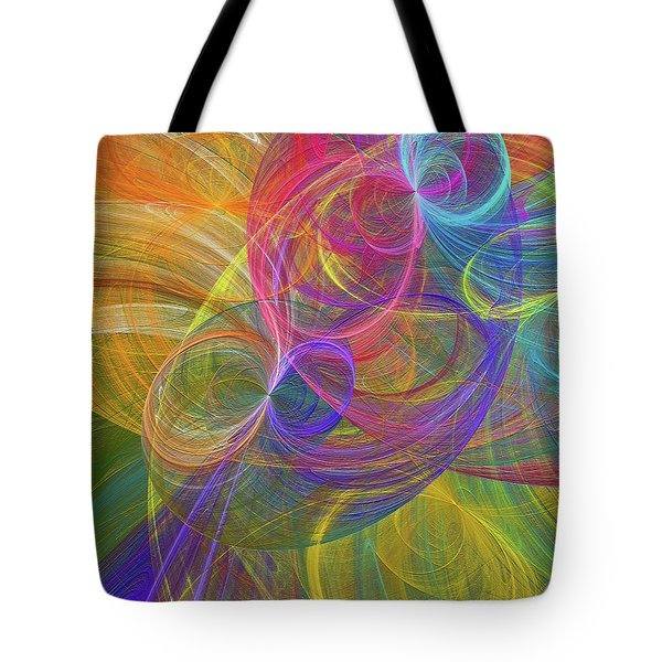 Tote Bag featuring the digital art Andee Design Abstract 44 2017 by Andee Design