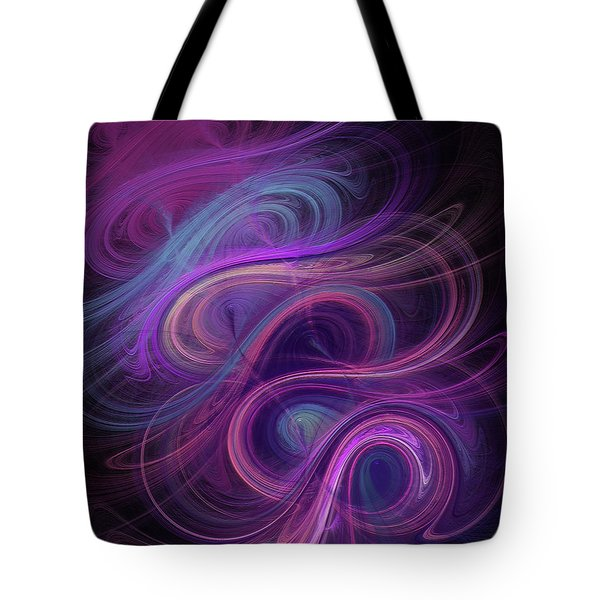 Tote Bag featuring the digital art Andee Design Abstract 45 2017 by Andee Design