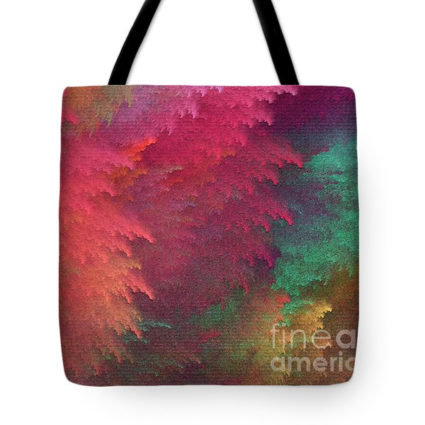 Tote Bag featuring the digital art Andee Design Abstract 6 2018 by Andee Design