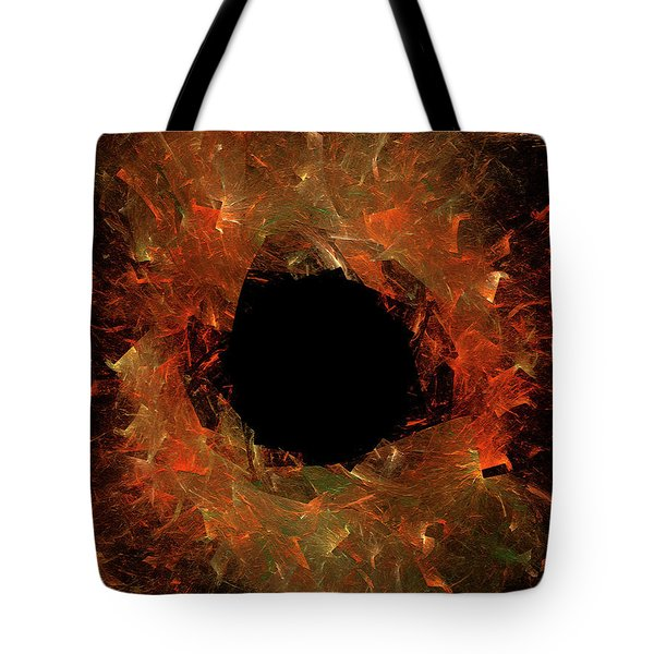 Tote Bag featuring the digital art Andee Design Abstract 9 2018 by Andee Design