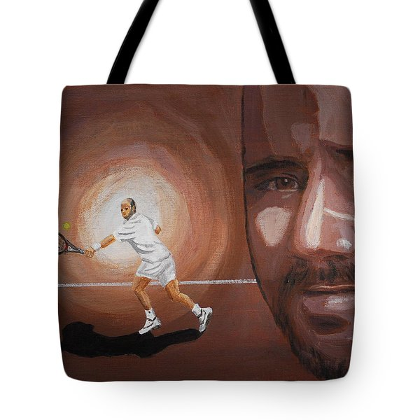 Andre Agassi Tote Bag by Quwatha Valentine