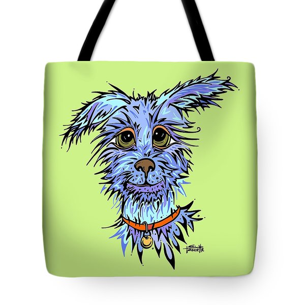 Tote Bag featuring the drawing Andre by Tanielle Childers