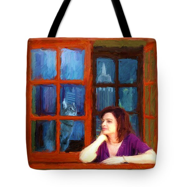 Andrea And The Cat Tote Bag