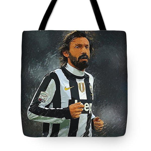 Andrea Pirlo Tote Bag by Semih Yurdabak