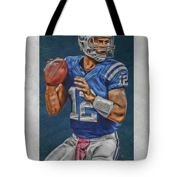 Andrew Luck Indianapolis Colts Art Tote Bag