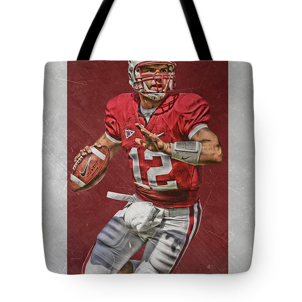 Andrew Luck Stanford Cardinals Art Tote Bag