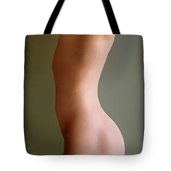 Tote Bag featuring the digital art Andro C by James Lanigan Thompson MFA