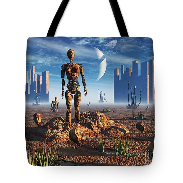 Android Fossils Preserved Tote Bag by Mark Stevenson