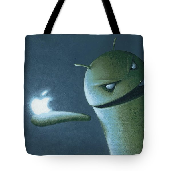 Android Vs Apple Tote Bag