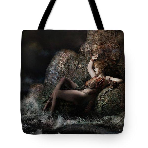 Tote Bag featuring the digital art Andromeda by Shanina Conway