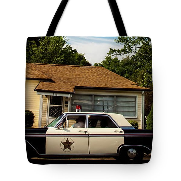 Tote Bag featuring the photograph Andy And Barney by Randy Sylvia