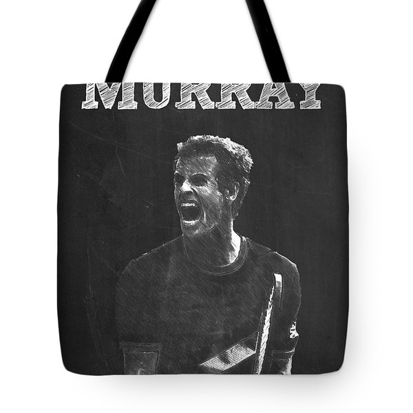 Andy Murray Tote Bag by Semih Yurdabak