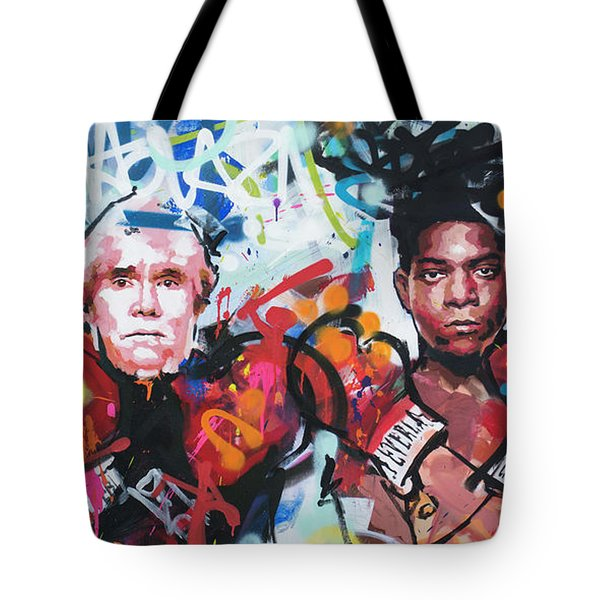 Andy Warhol And Jean-michel Basquiat Tote Bag