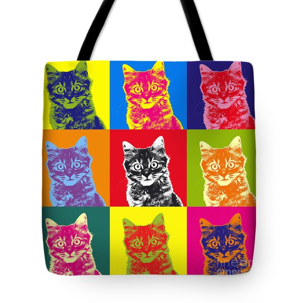 Andy Warhol Cat Tote Bag